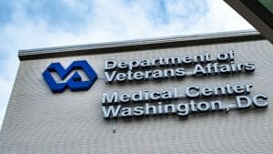 Blue Sky and Clouds overlooking Department of Veterans Affairs Medical Center in Washington DC