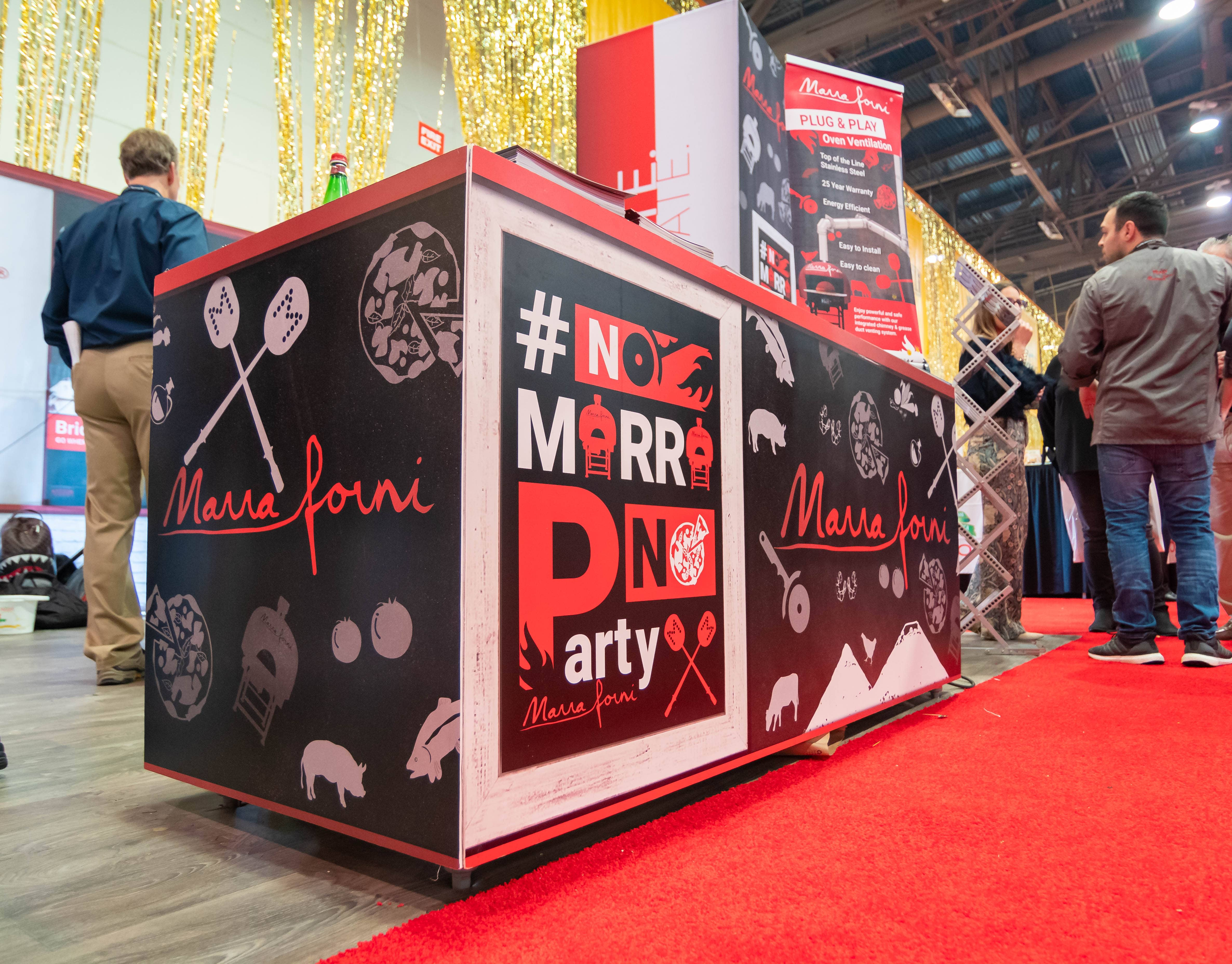 Marra Forni Booth Decorations at Pizza Expo 2019