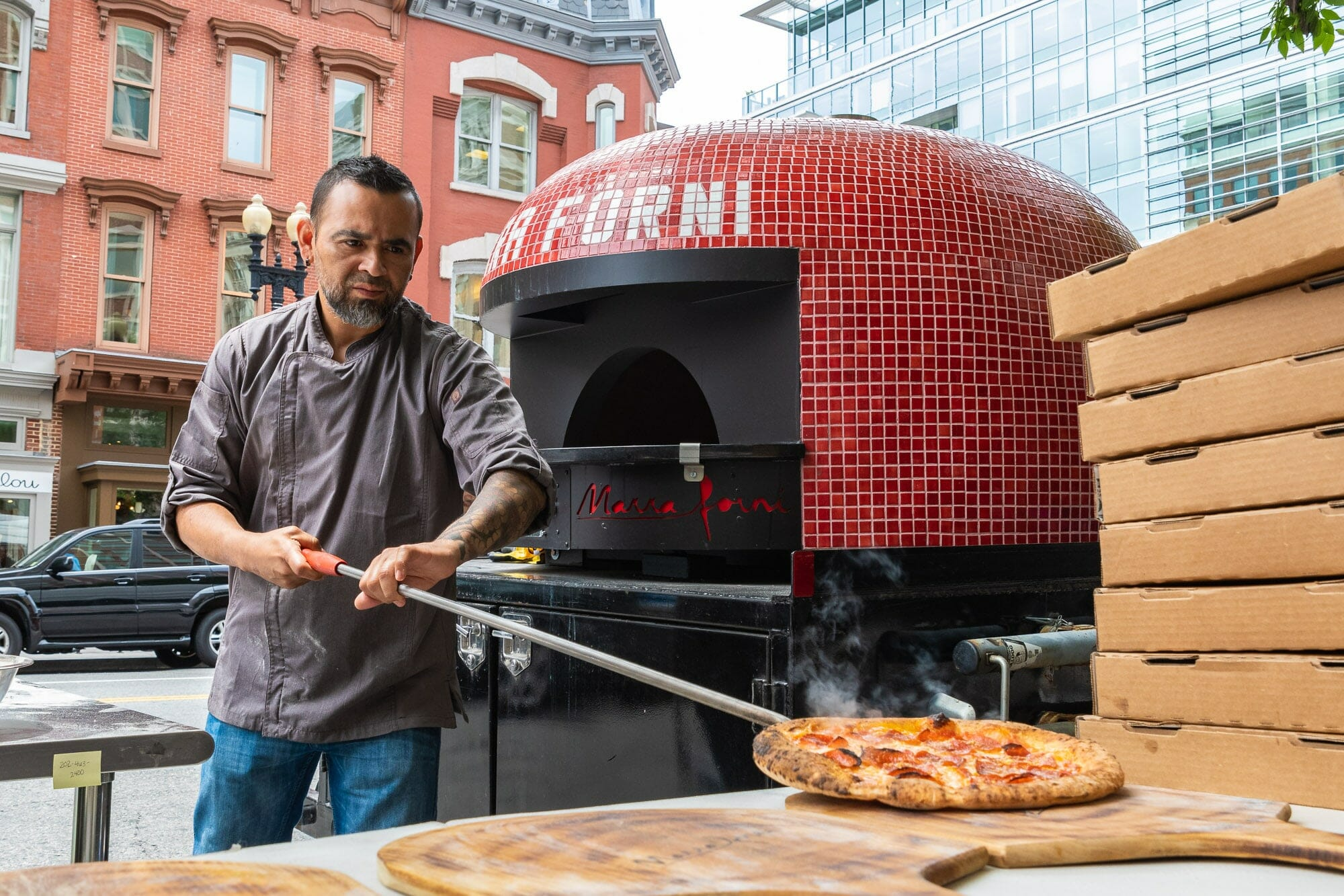 Marra Forni Catering in washington DC streets