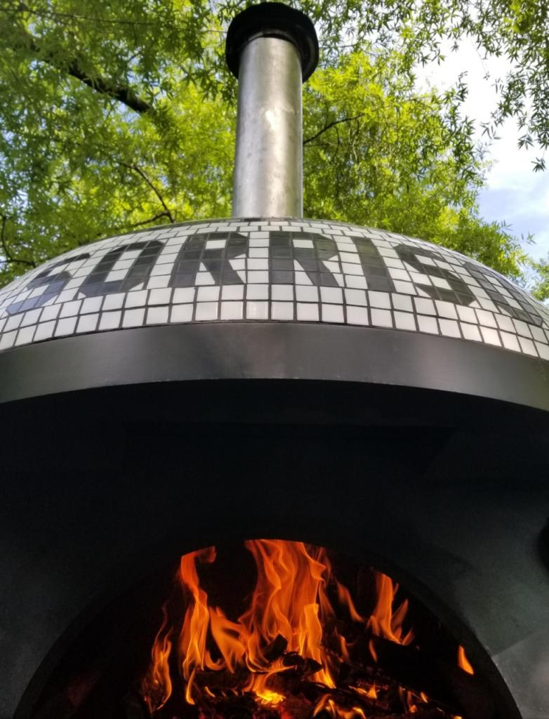 Wood Fired Brick Oven with Ventilation shot from the bottom