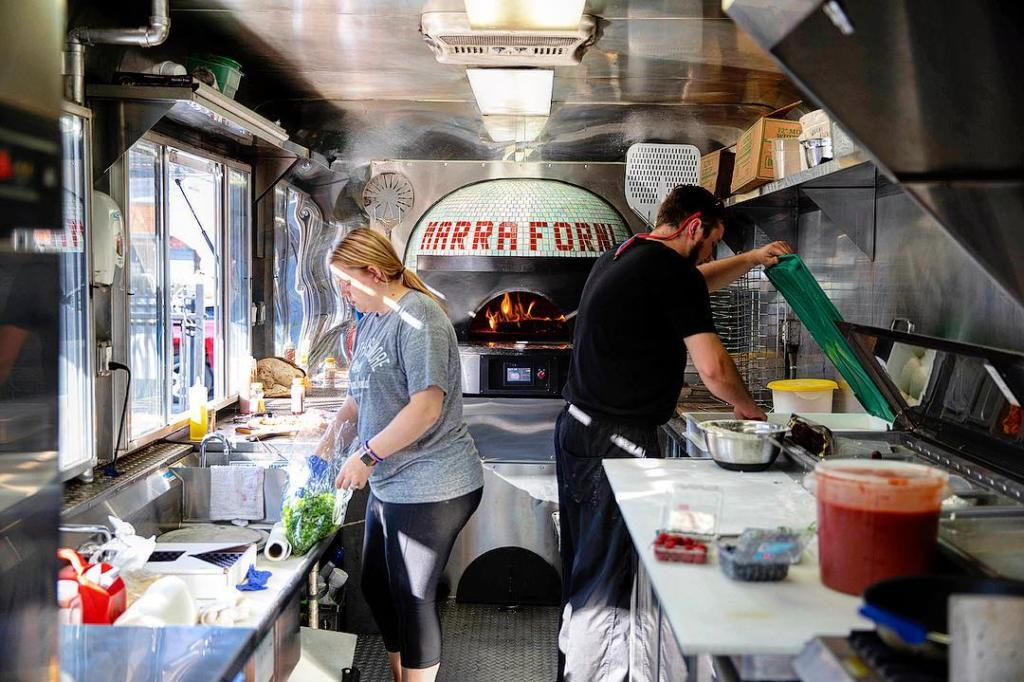 Marra Forni Mobile Pizza Truck Interior