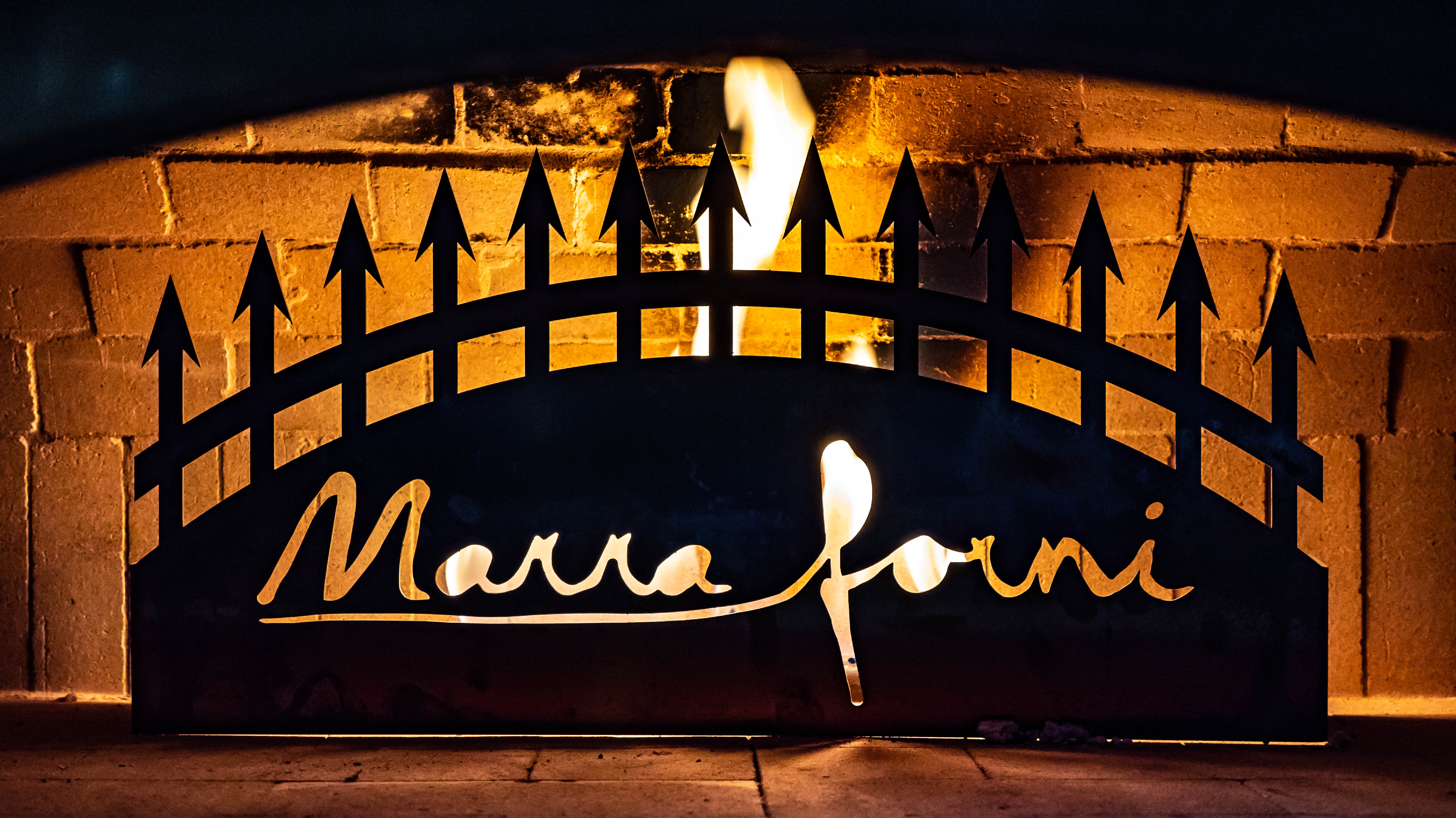 Marra Forni Fire Place in brick oven