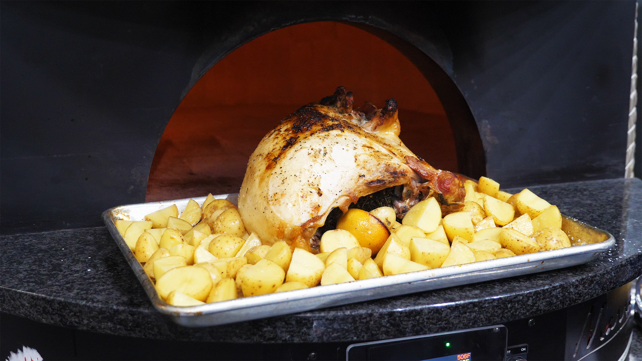 Turkey with Brick Oven